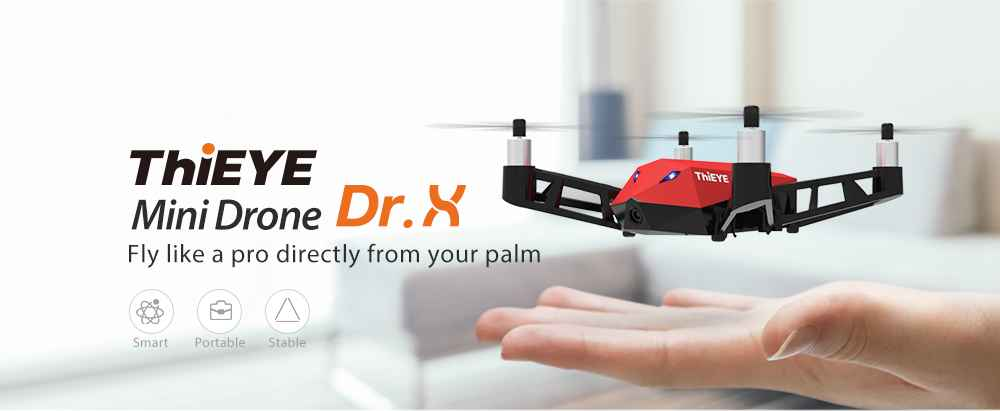 ThiEYE Dr.X WiFi FPV RC Drone 1080P Camera Optical Flow Altitude Hold Selfie 3D Rotating One Key