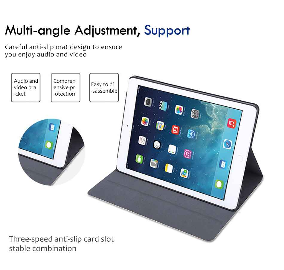 Auto Sleep Wakeup Flip Case 7.9inch Tablet Sleeve Stand For iPad Mini1234 9.7 For Ipad 234 Air 12 Protective Cover Shell (7)