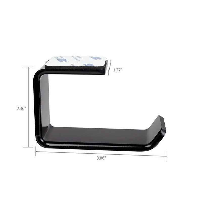 Durable Headphone Headset Holder Hanger Earphone WallDesk Display Stand Bracket Hanger Headphone Accessories (5)