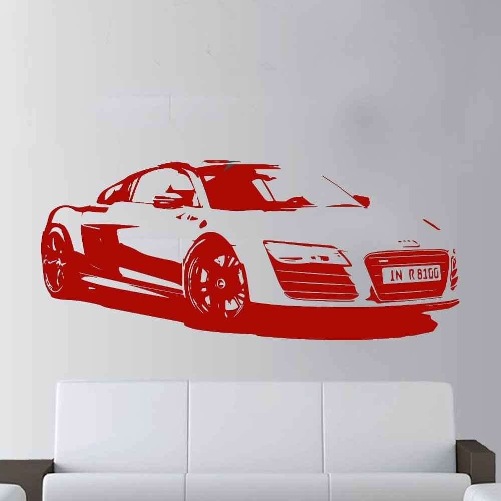 57x130cm-Fashion-Large-Car-Audi-R8-Coupe-Sports-Wall-Art-Decal-Home-Decor-Racing-Car-Wall (2)