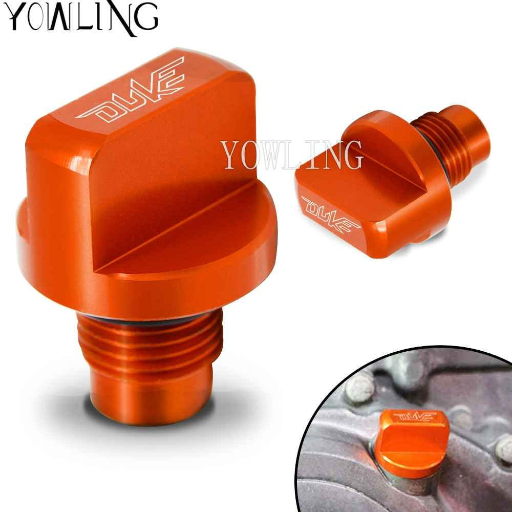 For   125 200 390  390 200 RC 125/200 /390 Motorcycle Accessories CNC Engine Magnetic Oil Drain Plug filler cap