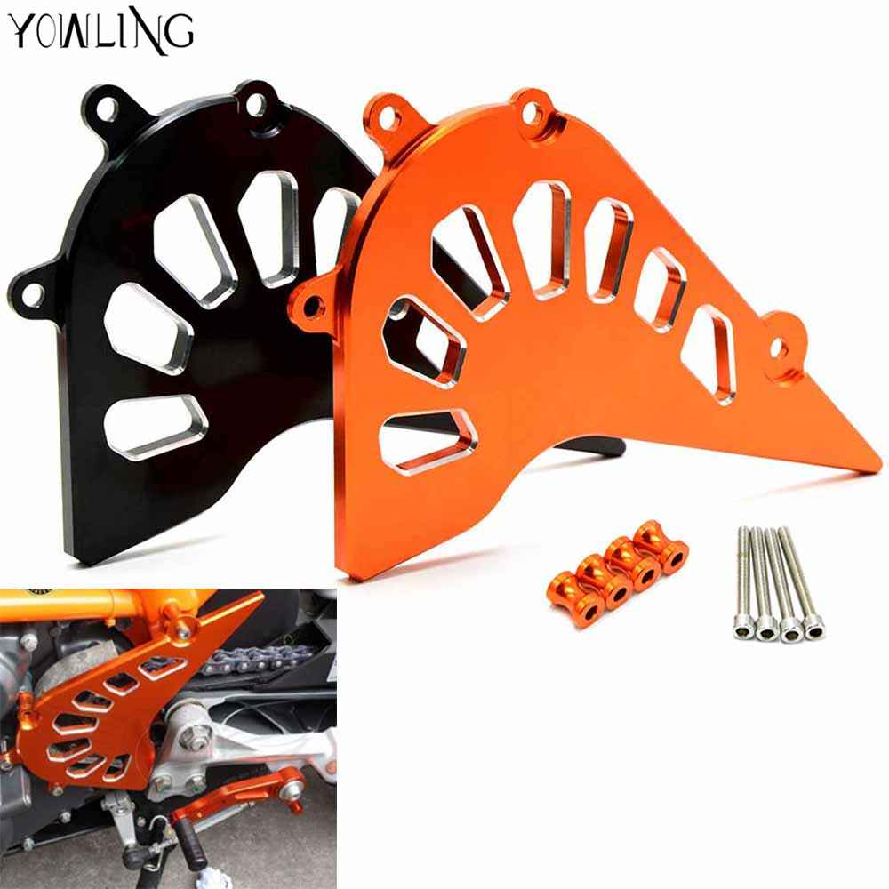 motorcycle CNC Aluminum Billet Front Sprocket Cover Engine Chain Guard Case Protection For   390 2013-2015 RC390 2014-15