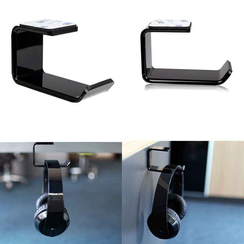 Durable Headphone Headset Holder Hanger Earphone WallDesk Display Stand Bracket Hanger Headphone Accessories (6)
