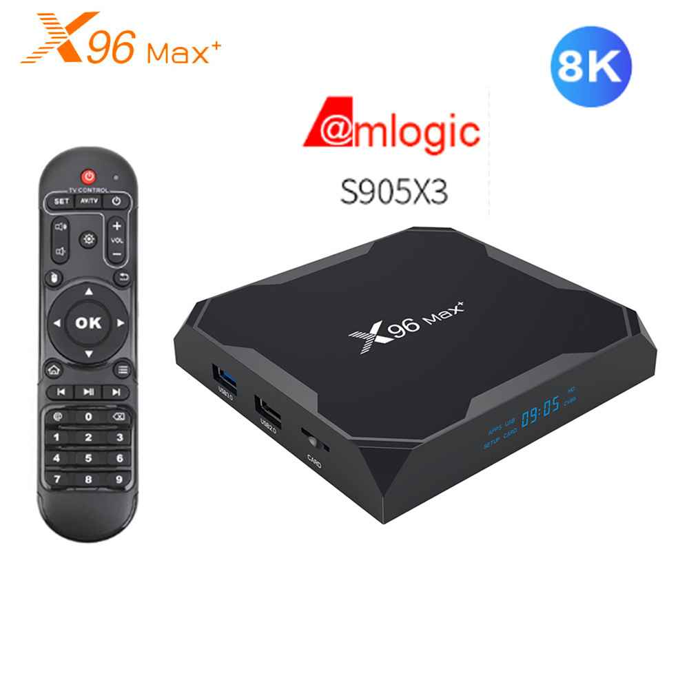 Приставка смарт тв X96 Max Plus Amlogic S905X3 Android 9 0 2 4 ггц wi fi 8K Ultra HD VP9 HDR медиаплеер 1000M LAN BT4.0