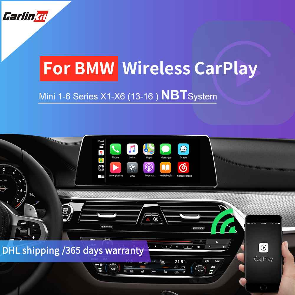 Carlinkit беспроводная Apple Carplay/ Android Авто/Mirrorlink/Airplay для BMW NBT система Mini/X1/X3/X4/X5/X6 1 7