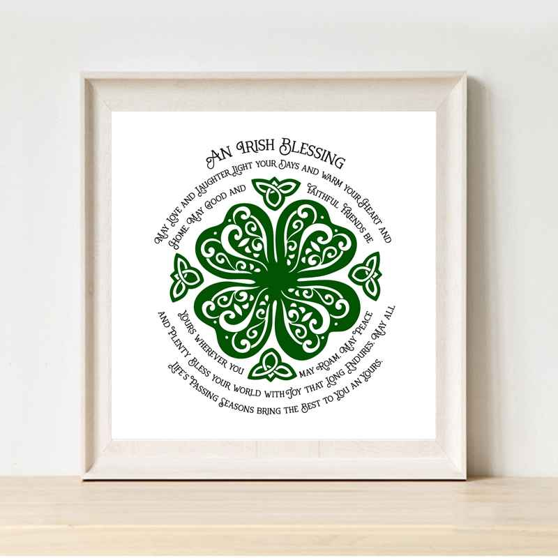 An Irish Blessing Canvas Painting St Patrick's Day Home Decor